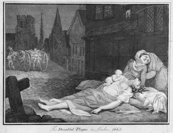 Улицы Лондона во времена чумы, 1665 год
