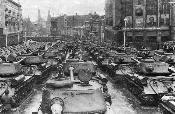 Парад 1945 красная площадь Боевая техника
