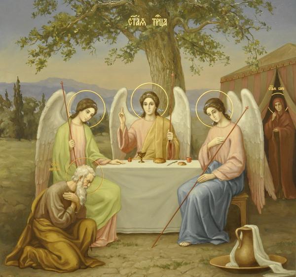 троица-авраам-встречается с 3 ангелами