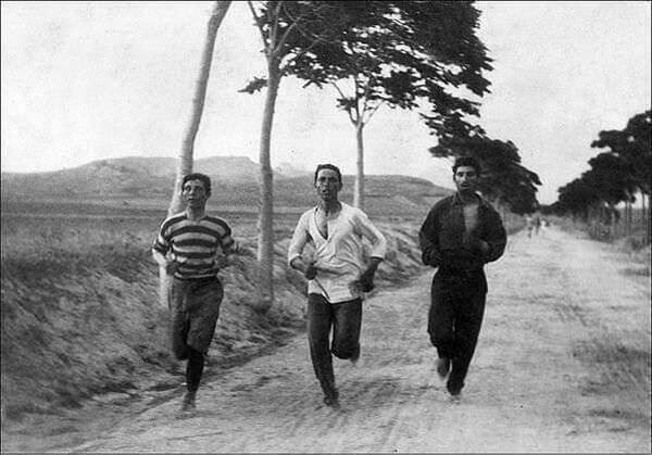 1896 - Марафонцы на первых современных Олимпийских играх в Афинах, Эллада