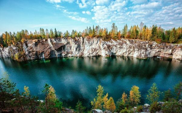 Мраморный каньон Рускеала, Карелия.