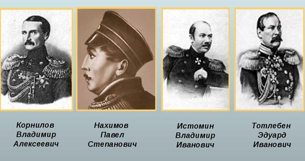 Герои обороны Севастополя командующие