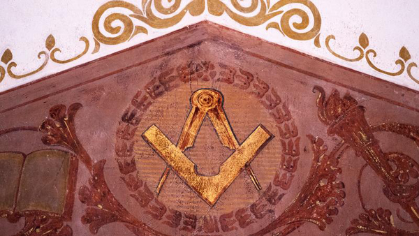 Historical ritual room of the Freemasons restored