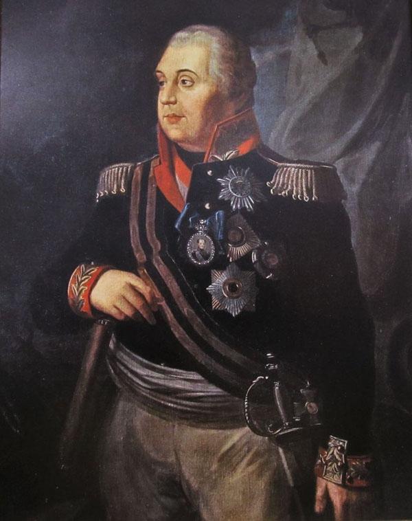 портрет М. И. Кутузова, с лентой ордена Св. Георгия 1-степени. Р. М. Волков, 1813 г.