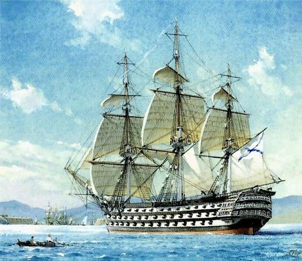 русские парусные корабли крымской войны
