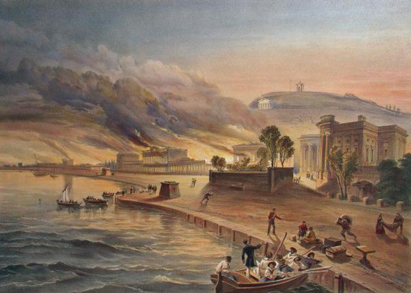 Уильям Симпсон запечатлел пожары и грабежи Керчи оккупантами