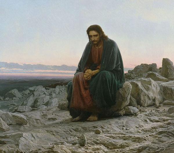 Христос в пустыне-Крамской