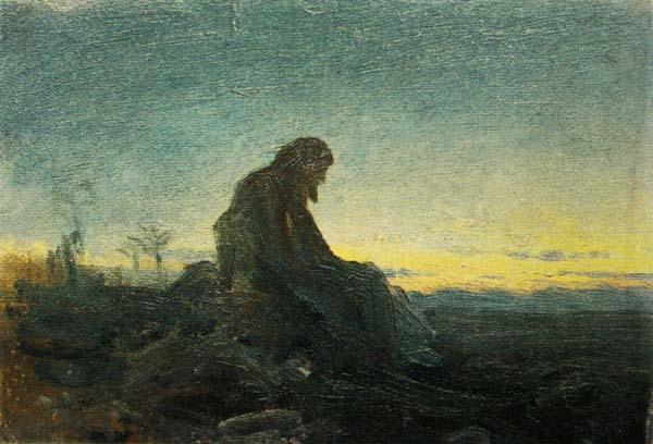 Христос в пустыне (эскиз, ГТГ)