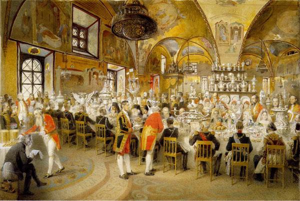 Маковский. Торжественный обед в Грановитой палате