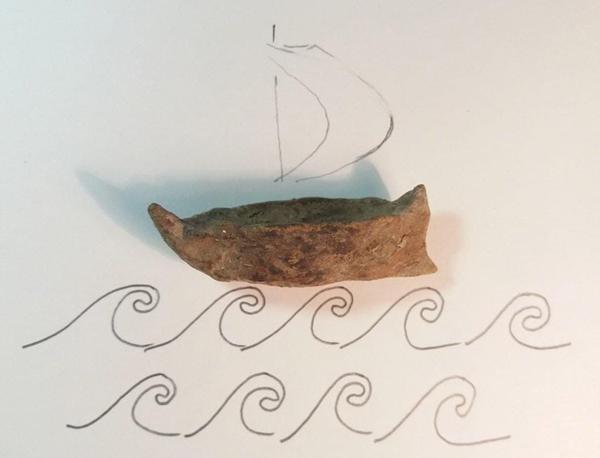 модель лодочки