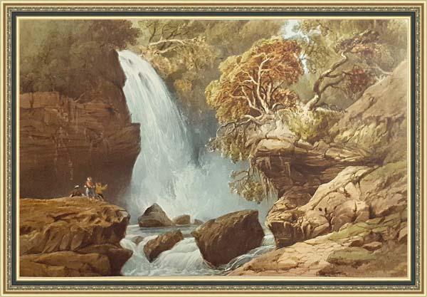 Карло Боссоли (1815 - 1884), водопад Джур-Джур