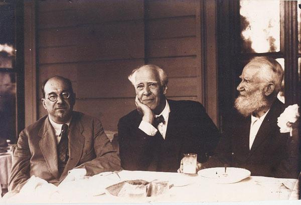 Луначарский, Станиславский и Бернард Шоу в Москве