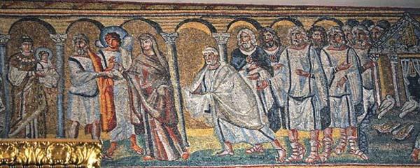 Мозаика базилики Санта Мария Маджоре. 432–440 г. Рим, Италия