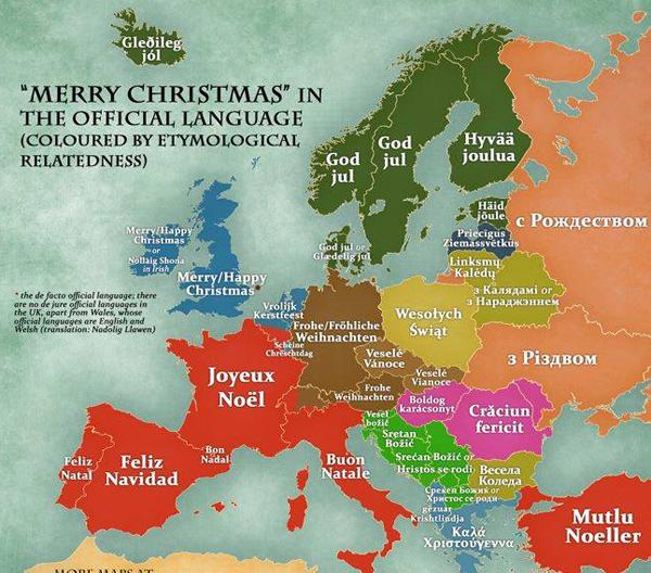 Роджество празднуют в странах