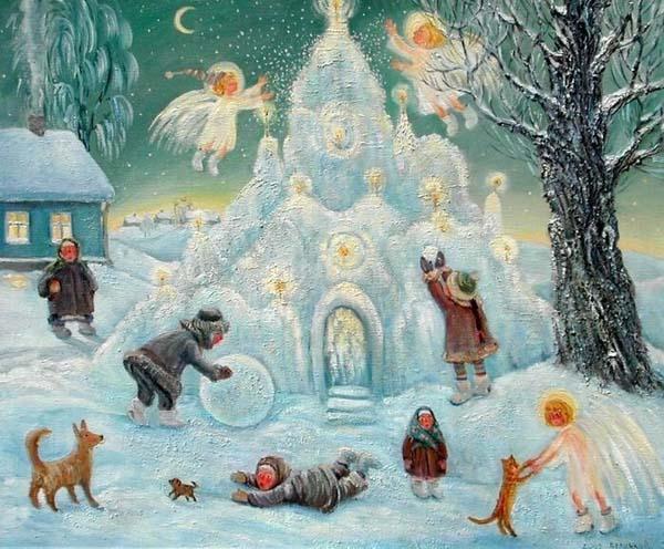 леденая горка-новый год