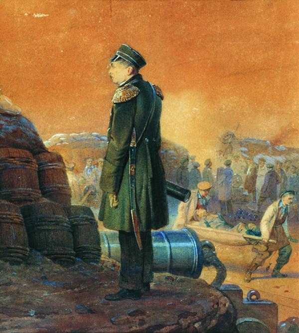 Художник Тимм. Адмирал Павел Нахимов в Севастополе