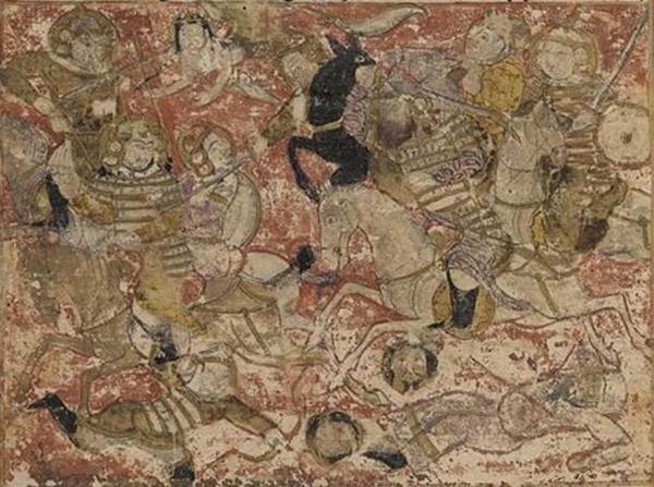 Бой между армией Али и Муавии I во время битвы при Сиффине у Тарихнамы.