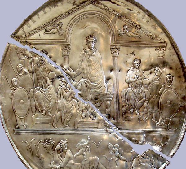 Феодосий 1 Великий - серебр блюдо