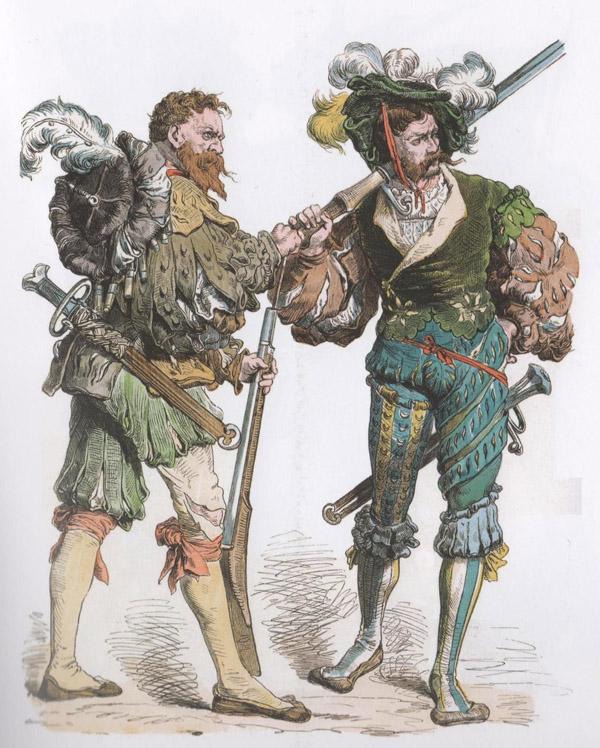 пехотинцы 16 века