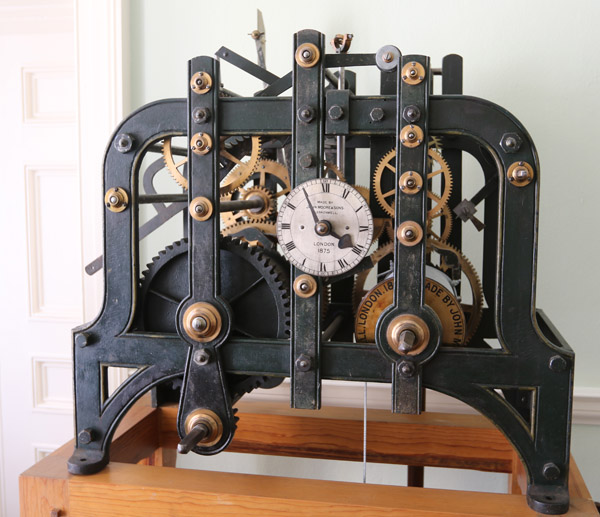 Turret clock by John Moore and Sons, Clerkenwel. 1875