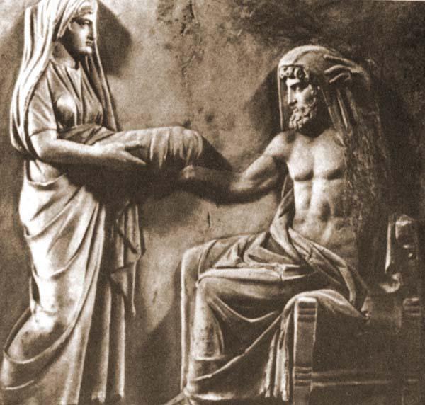 Титан Кронос и титанида Рея