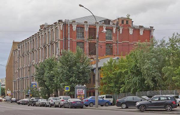Один из исторических корпусов Трёхгорной мануфактуры