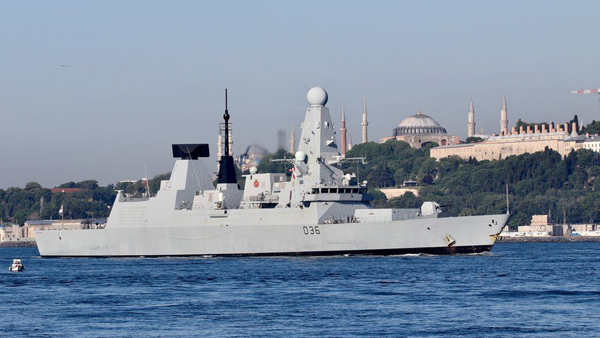 HMS Defender was in Istanbul earlier this month