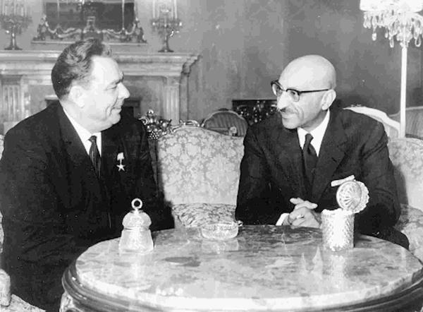 Захир Шах и Брежнев
