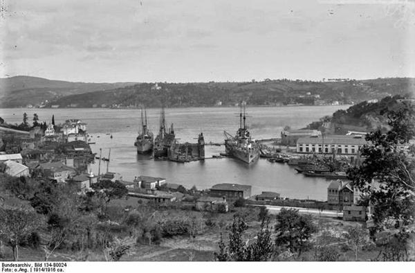 Корабельная сторона Севастополя в 1914 году. Сюда упали первые снаряды