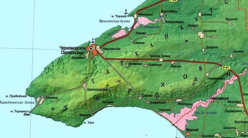 карта-тарханкута