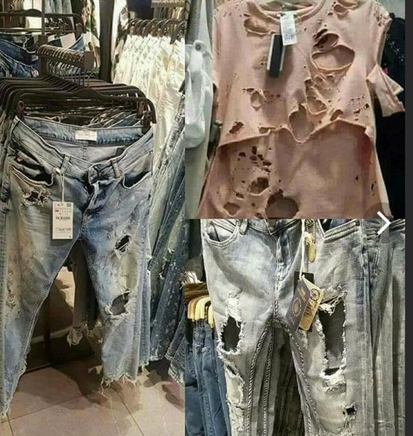Мода на рваную одежду лишает человека чувства брезгливости
