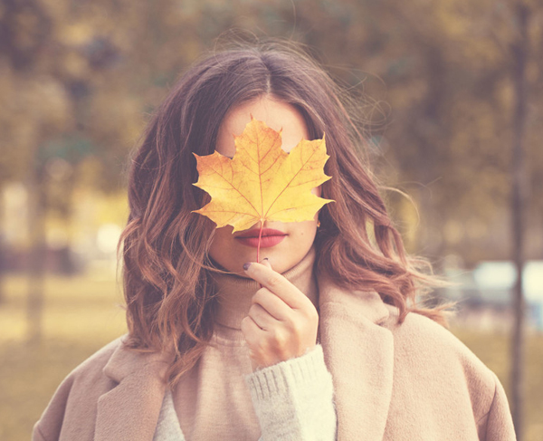 осень-лист-дев