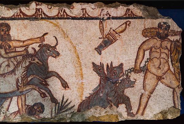 геракл укращает быков, и цербера