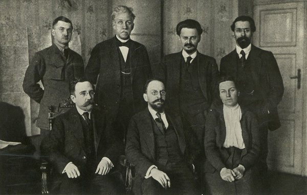 1918 г в брест-литовске - Липский, Стучка, Троцкий, Карахан
